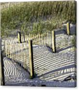 Shadows On The Dune Canvas Print