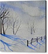Shadows On The Snow Canvas Print