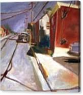 shadows on the Street Canvas Print