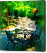 Shady Table Canvas Print