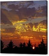 Shafts Of Fading Light Canvas Print