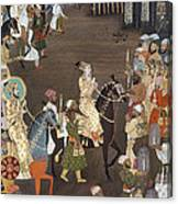 Shah Jahan (1592-1666) Canvas Print