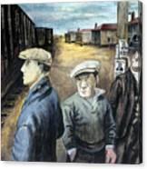 Shahn: Three Men Canvas Print