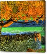 Shaker Stone Fence 1 Canvas Print