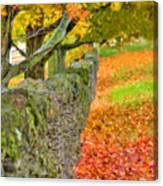 Shaker Stone Fence 3 Canvas Print