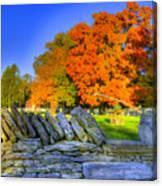Shaker Stone Fence 7 Canvas Print