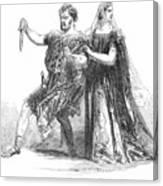 Shakespeare: Macbeth, 1845 Canvas Print