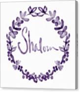 Shalom Wreath- Art By Linda Woods Canvas Print