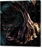 Shaman Dancing With Spirits Canvas Print