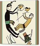 Shaman Hunting Ritual Dream Canvas Print