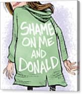 Shame On Trumps Canvas Print