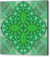Shamrock In Abstract Canvas Print