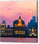 Shanghai Sunset Canvas Print