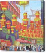 Shanghi Lanterns II Canvas Print
