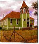 Shaniko School District Sixty Seven Canvas Print