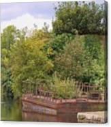 Shannon River Barge Canvas Print