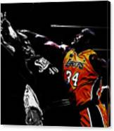 Shaq Protecting The Paint Canvas Print