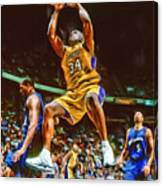 Shaquille O'neal Los Angeles Lakers Oil Art Canvas Print