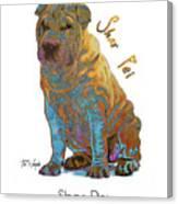 Shar Pei Pop Art Canvas Print