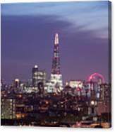 Shard Oxo Tower London Eye Walkie Talkie From Balfron Tower Canvas Print