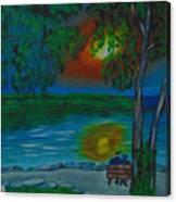 Shared Sunset Hamilton  Canvas Print