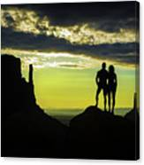 Sharing A Monument Valley Sunrise Canvas Print