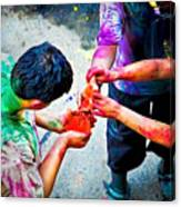 Sharing Colors Sharing Happiness Canvas Print