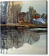 Shark River Reflections Canvas Print