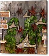 Shark Town Canvas Print