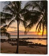 Sharks Cove Sunset 3 - Oahu Hawaii Canvas Print