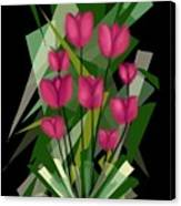 Sharp Blades Of Tulips  Canvas Print
