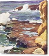 Sharp Rocky Coastline Canvas Print