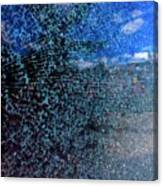 Shattered Blue Canvas Print