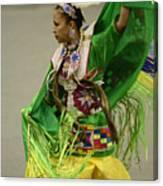 Pow Wow Shawl Dancer 3 Canvas Print