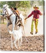 Shawnee Sagers Goat Roping Competition Canvas Print