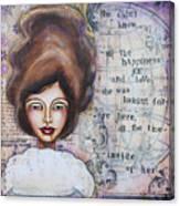 She Didn't Know - Inspirational Spiritual Mixed Media Art Canvas Print