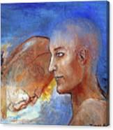 She Dreams Of The Sea Canvas Print