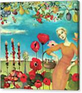 She Gathered Fruit Canvas Print
