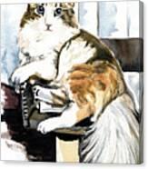 She Has Got The Look - Cat Portrait Canvas Print