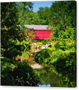 Sheards Mill Bridge - Nockamixon Pa Canvas Print