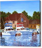Sheboygan River Marina Canvas Print
