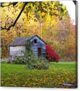 Shed In Autumn Canvas Print
