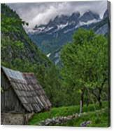 Shed In The Pass Canvas Print