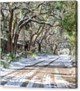 Sheep Farm - Snow Canvas Print