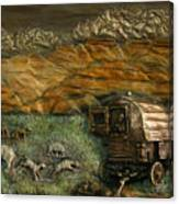 Sheep Herder's Wagon From Snowy Range Life Canvas Print