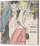 Sheet Music Dans Lxviiieme By Achille Bloch And Louis Byrec, Performed By Farville And Reschal Theo Canvas Print
