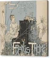 Sheet Music Scherzo Pour Piano Canvas Print
