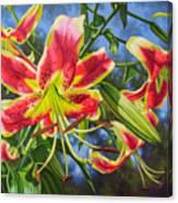Sheherazade Lilies 1 Canvas Print