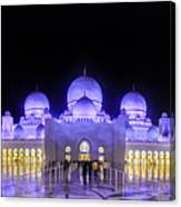 Sheikh Zayed Mosque Panorama View Canvas Print