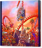 Sheikra Ride Poster 3 Canvas Print